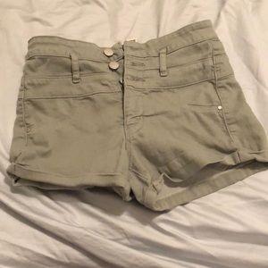 refuge Shorts - Ivy green high waisted jean shorts
